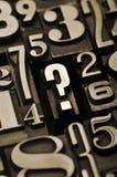 вопрос о номеров Стоковая Фотография RF