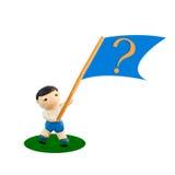вопрос о пластилина флага Стоковая Фотография