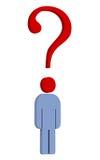 вопрос о человека Стоковое Фото