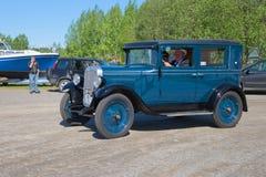 Вопрос Шевроле 1929 автомобиля принимать парад винтажных автомобилей Kerimyaki, Финляндия Стоковые Фото