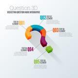 Вопрос 3D Infographic Стоковое фото RF