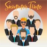 Воплощение и бизнесмены летнего времени Стоковое фото RF
