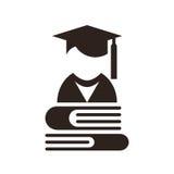 Воплощение университета Значок образования иллюстрация штока
