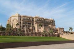 дворец ночи эмиратов Abu Dhabi Стоковое Изображение