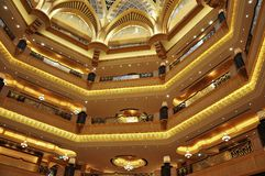 дворец ночи эмиратов Abu Dhabi Стоковая Фотография