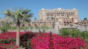 дворец эмиратов Abu Dhabi сток-видео
