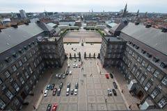 дворец copenhagen christiansborg стоковые изображения rf