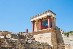 дворец knossos Крита Стоковое фото RF