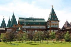 дворец moscow kolomenskoe деревянный Стоковая Фотография