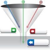 воронка диаграммы иллюстрация вектора
