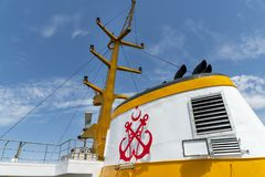 Воронка пассажирского корабля Sehir Hatlari, Стамбул, Турция Стоковое Фото