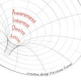 Воронка 3d продаж, векторные графики Стоковая Фотография
