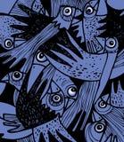 вороны flock устрашено Стоковое Изображение