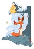 Ворон и Fox Стоковое фото RF
