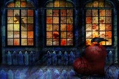 Ворон с сердцем Стоковые Фотографии RF