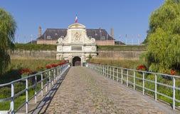 Ворота в старой крепости Франция lille стоковое изображение