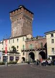 Ворота и башня Porta Castello в Виченца, Италии стоковые изображения rf