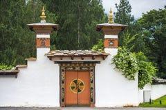 Ворота королевского дворца, Punakha Dzong, Бутана стоковые фото