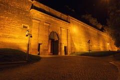 Ворота к brana Новы крепости Vyshehrad вечером, Прага, чехия стоковая фотография rf