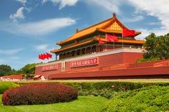 Ворота площади Тиананмен небесного мира, Пекин стоковые фотографии rf