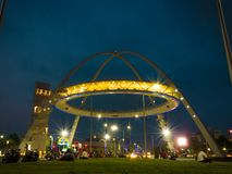 Ворота Biswa Bangla или ворота Kolkata на новом городке стоковые фото