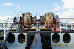 Ворот зачаливания на палубе топливозаправщика Стоковое Фото