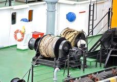 Ворот кабеля плавучего крана Стоковые Фото