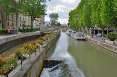 Ворот канала de Ла Robine в Нарбонне Стоковое Изображение