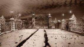 Ворот к wintergarden Стоковые Фотографии RF