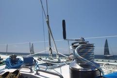 Ворот на яхте стоковая фотография