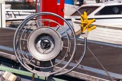 Ворот для рыболовной сети с веревочками стоковое изображение