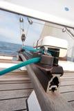 ворот sailing веревочки шлюпки стоковое изображение