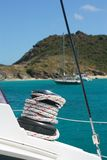 ворот sailing веревочки шлюпки Стоковое Изображение RF