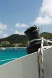 ворот sailing веревочки шлюпки Стоковые Фото