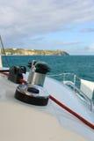 ворот sailing веревочки шлюпки Стоковое Фото