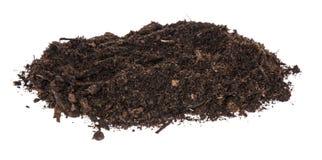 Ворох грязи изолированный на белизне стоковые изображения rf