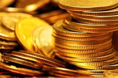 ворох золота монеток стоковая фотография rf