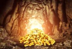 Ворох золота в слитках Стоковое фото RF
