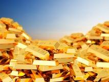 Ворох золота в слитках Стоковое Фото