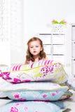 Ворох подушек на flloor Стоковая Фотография