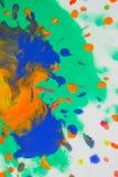 Вортекс вихря распространяет покрашенные цвета чернил на белой предпосылке Стоковая Фотография