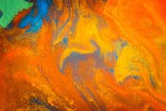 Вортекс вихря распространяет покрашенные цвета чернил на белой предпосылке Стоковые Изображения