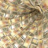 Вортекс денег 50 счетов шведского kronor Стоковое фото RF