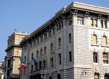 2 дворца в Триесте, Friuli Venezia Giulia (Италия) Стоковые Изображения