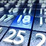 Восемнадцатый календарный день стоковое изображение