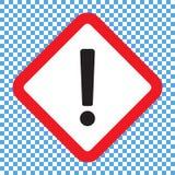 Восклицательный знак, символ квадратной опасности предупреждающий, значок вектора иллюстрация вектора