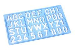 Восковка алфавита стоковые фотографии rf