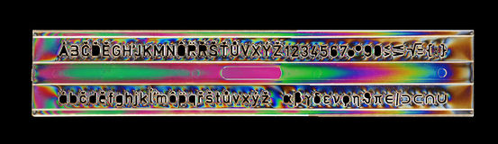 восковка правителя алфавита Стоковые Изображения RF