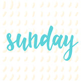 воскресенье Абстрактная литерность для карточки, приглашения, t-shir Стоковое Изображение
