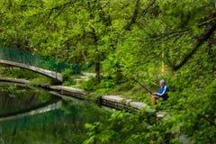Воскресенье к расслабляющей рыбной ловле Стоковая Фотография
